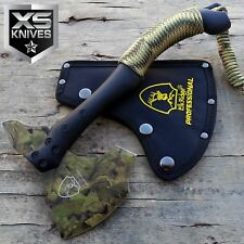 "11"" Tactical CAMO COATED Tomahawk Battle Hatchet Camping Survival Hunting Axe"