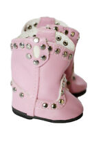 """Doll Clothes AG 14.5"""" Boots Cowgirl Studded Pink Made To Fit 14.5"""" Dolls"""