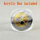 Gold &Silver Ripple coin Commemorative Round Collectors XRP Coin In Acrylic Case