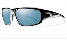 NEW Smith Terrace Sunglasses-Black-Blue Polarized Mirror-SAME DAY SHIPPING!