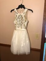 *ONLY WORN ONCE* B. Darlin White Homecoming Dress