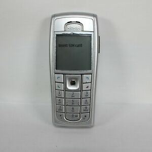 Nokia 6230i RM-72 Mobile Phone Silver Locked To EE With Battery Tested & Working