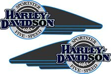 14235-91 HD Harley Decal OEM Sportster Right AND Left Tank Decal 5 Speed Set