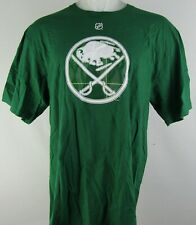 Buffalo Sabers Kane Nhl Reebok Men's St. Patricks Plaid Logo Short Sleeve Shirt