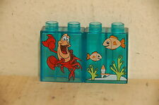 Lego Duplo Disney Little Mermaid Sebastian and Fish Blocks Figure 2x1x2