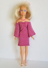 Hasbro Vintage JEM Clothes Striped DRESS & NECKLACE Handmade Fashion NO DOLL d4e