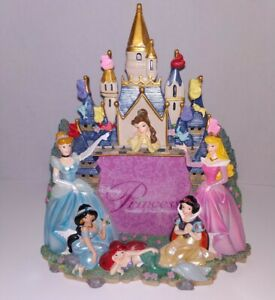 Disney Parks Authentic Princess Castle Photo Picture Frame 3D Fully Sculpted