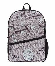 MOJO PLASTIC MONEY CREDIT CARD DIAMONDS CASH PUNK SCHOOL BOOK BAG BACKPACK