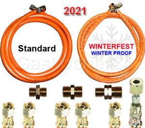 """PropanGasschlauch 2021* Winterfest oder Standard 1/4"""" 3/8"""" links od. 1/4"""" X 8mm"""