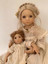 "ANNETTE HIMSTEDT 1997 DOLL FREEKE 24"" AND BIBI12"" ALL ORIGINAL PAPERWORK BOX EUC"