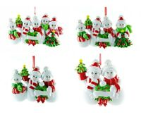 Personalised Christmas Tree Decoration Ornament Snowman Family 2-5 Members
