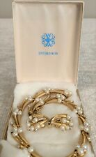 Set of Vintage Costume Jewelry, 12k Gold Filled Necklace and Earrings Set #8