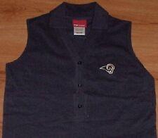 St Louis Rams Sleeveless Polo Shirt Ladies Small Reebok