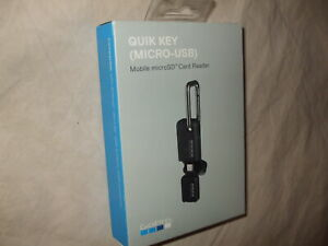 NEW - GoPro QUIK KEY Mobile MicroSD Card Reader, AMCRU-001