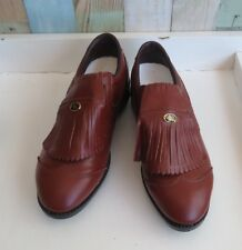 Lovely Men's Brown Leather Niblick Golf Shoes - Size 9 *Made in Australia