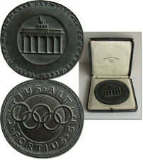Olympic Games Olympische Spiele 1932 1930 IOC Kongress Berlin Medaille 1936