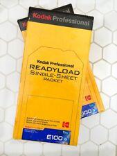 2 bxs KODAK READYLOAD 4x5 EKTACHROME E100G expired sealed with FILM HOLDER