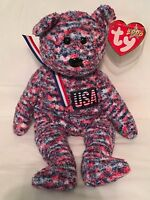 TY Beanie Baby - USA the Bear -  Pristine with Mint Tags - RETIRED