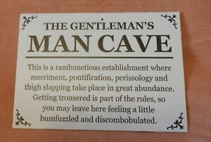 Quirky Man Cave sign
