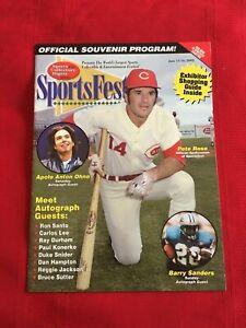 2002 Chicago SportsFest collectors program / Jackson / Rose / Sanders / Santo