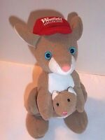 """Kangaroo Plush with Baby Joey in Pouch Advertising Westie 7"""" Westfield Shopping"""