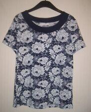 Anna rose bleu et blanc à fleurs femme taille moyenne