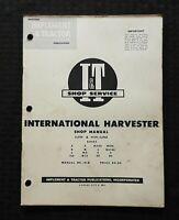 1956 INTERNATIONAL HARVESTER A B C CUB H M MD MTA D6 D9 W6 TRACTOR REPAIR MANUAL