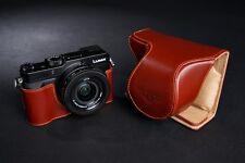 Handmade Genuine real Leather Full Camera Case bag Cover for Panasonic LX100
