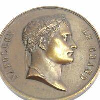 Napoleon Le Grand Arc De Letoile bronze medallion medal antique 19th century