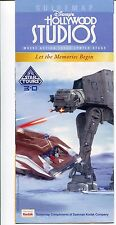 Disney's Hollywood Studios Star Wars Star Tours 3-D Opening 2011 Park Guide Map