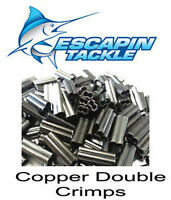 50 x 1.9mm Copper Double Fishing Crimps Suit Wire or Mono Rig Game Lures