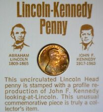 1973 LINCOLN KENNY PENNY SIMILARITY FACTS COLLECTOR CARD CARDS OB 2 LOT OF TWO