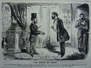 Photographic Studio THE CARTE DE VISITE Original 1861 Victorian Print