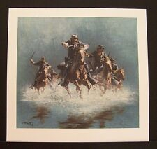 "Frank McCarthy Limited Edition Print ""Saber Charge"" w/Original Folder"