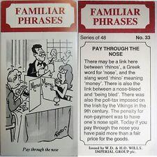 WILLS' *FAMILIAR PHRASES* 1986, No.33 *VG*