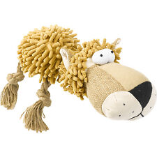 Squeaky Plush Shaggy Lion Dog Toy Puppy Interactive Pet Face Stuffed Animal