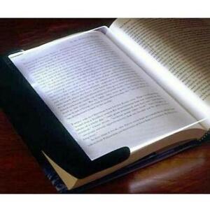 1* Creative LED Book Light Reading Night Flat Plate Portable Panel Lamps Nice