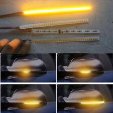 Pair 32LED 18cm Rear Mirrors Flexible Flowing Turn Signal Strip Built-in Decoder