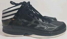 Men's Adidas Basketball Shoes Adizero Sprint Web Size 17 Black Silver Sneakers