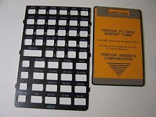 Topcon FC-48GX Survey Card and Overlay for the HP 48GX Calculator