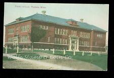 1910 Postcard Public School Wadena MN   A9835