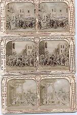 20 Stereokarten Diablerien Frankreich 1870 La vie de Jesus, Krippe usw.