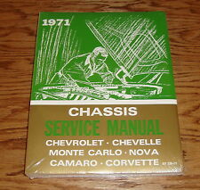 1971 Chevrolet Shop Service Manual 71 Chevy Camaro Corvette Chevelle Nova