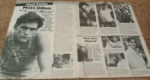MATT DILLON CENTERFOLD CLIPPING CUTTING FROM MAGAZINE 80'S LIARS MOON