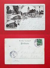 Litho AK OSCHERSLEBEN 1898 Halberstädter Strasse, Krankenhaus, Bodewehr  ( 39516