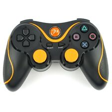 Wireless Bluetooth Controller for Playstation 3 PS3 Remote Gamepad Black+Orange