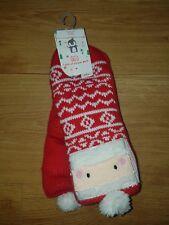 Mothercare kids Christmas/Santa Unisex 1 pair Slipper socks unisex 2-4 years