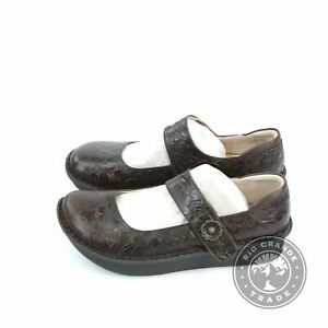 NEW Alegria PAL-275 Women's Paloma Mary Jane Shoes in Flutter Choco - 39 EU / 9