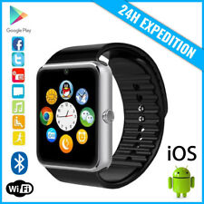 Original GT08 Smart Watch Montre Facebook Bluetooth SIM Slot Android iOS Silver
