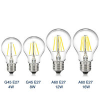 E27 LED Lights Filament COB Edison Bulb Spotlight Energy Saving Lamp 4W-16W 220V